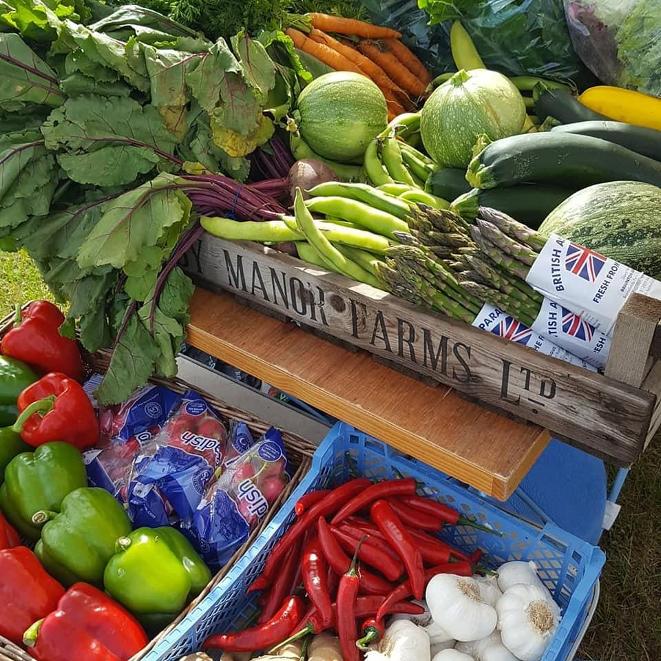 Local fresh farm produce Bude Farmers Market on the Cornish coast